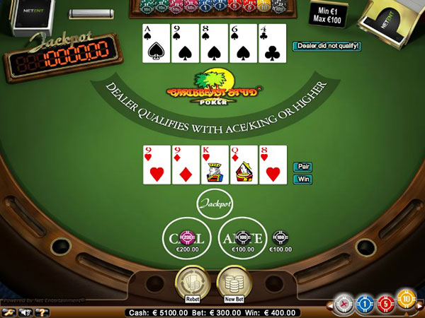 Caribbean Stud Poker Screenshot